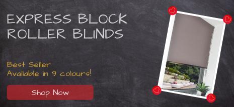 Express Block Roller Blinds, Our Best Seller. Shop Now