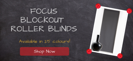 Focus Blockout Roller Blinds Available in 25 Colours