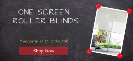 One Screen Roller Blinds available in 12 colours. Shop Now