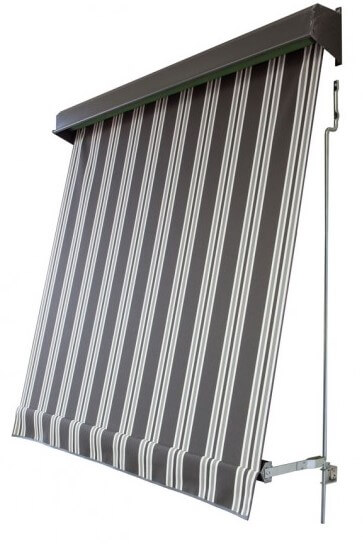 Auto Spring Awning In Vistaweave Stripe Screen