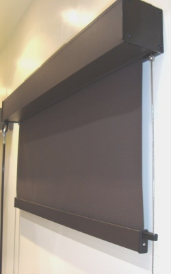 Exterior Wire Guide Roller Blind in Vistaweave 95