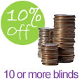 10% off 10 or more blinds