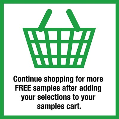 Continue shopping for other product samples