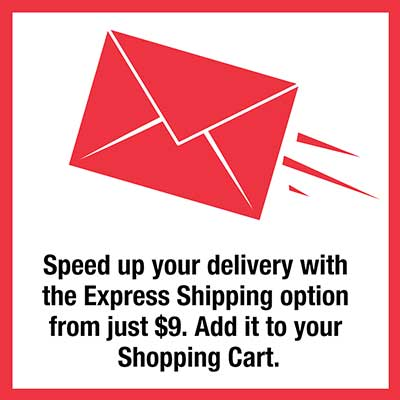 Express shipping available for your sample orders from just $9