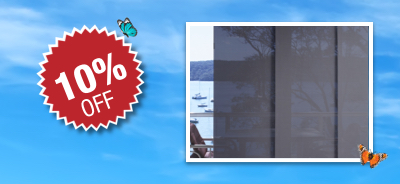 10% off Panel Glide Window Blinds