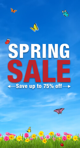 Spring Sale up to 75% off