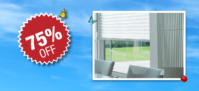 Pleated Blinds XL50 Pleat 75% OFF