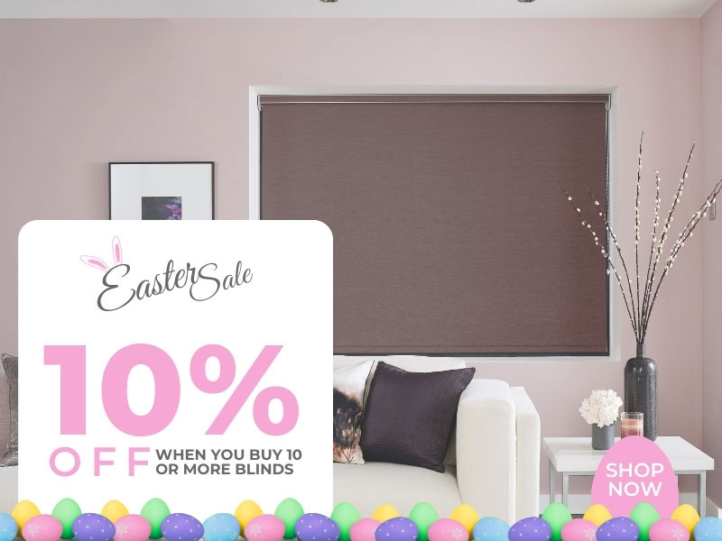 10 percent off when you buy 10 or more blinds
