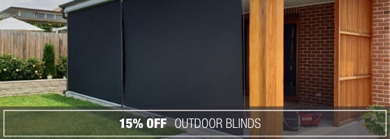 15% off Outdoor Blinds