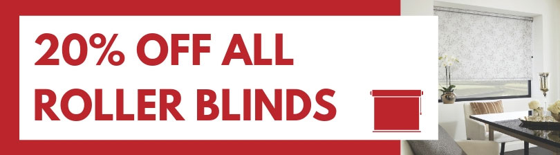20% off all roller blinds