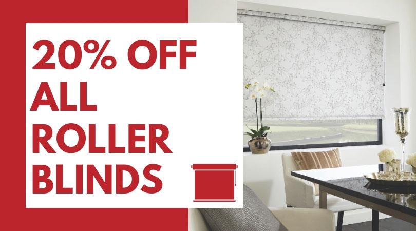 20% off all roller blinds.