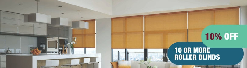 10% off 10 or more roller blinds