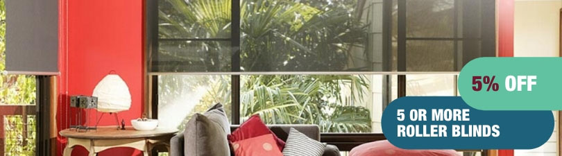 5% off 5 or more roller blinds
