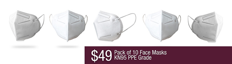$49 for a pack of 10 KN95 PPE Grade Face Masks