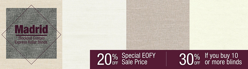 Up to 30% off Madrid Textured Blockout Roller Blinds