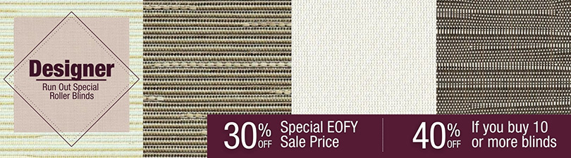 Up to 40% off Designer Run Out Roller Blinds