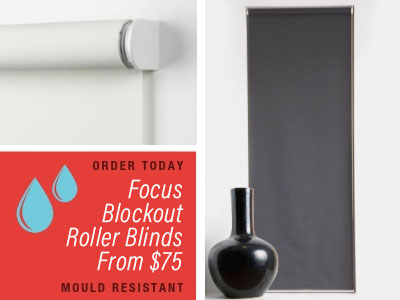 Focus blockout roller blinds from $75