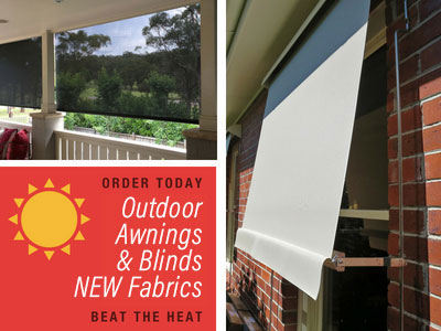 Outdoor awnings and blinds NEW fabrics