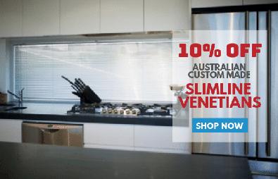 10% off Australian Custom Made Slimline Venetians
